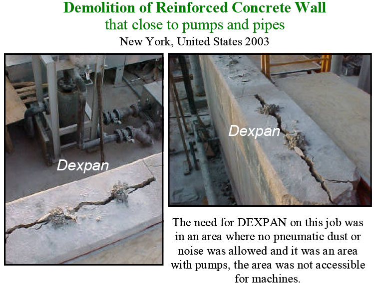 Non Explosive Concrete Demolition